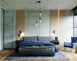 LOFT U - Sypialnia, styl industrialny - zdjęcie od Szkic Design - Projektowanie wnętrz - Homebook
