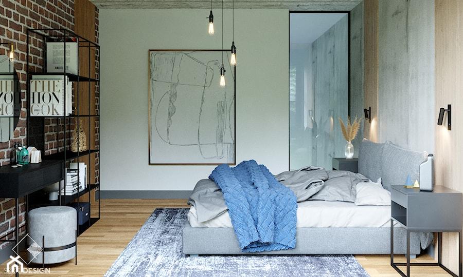 LOFT U - Sypialnia, styl industrialny - zdjęcie od Szkic Design - Projektowanie wnętrz