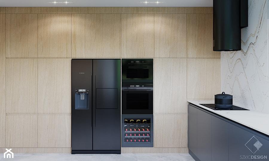 Dom w Grabinie - Kuchnia, styl minimalistyczny - zdjęcie od Szkic Design - Projektowanie wnętrz