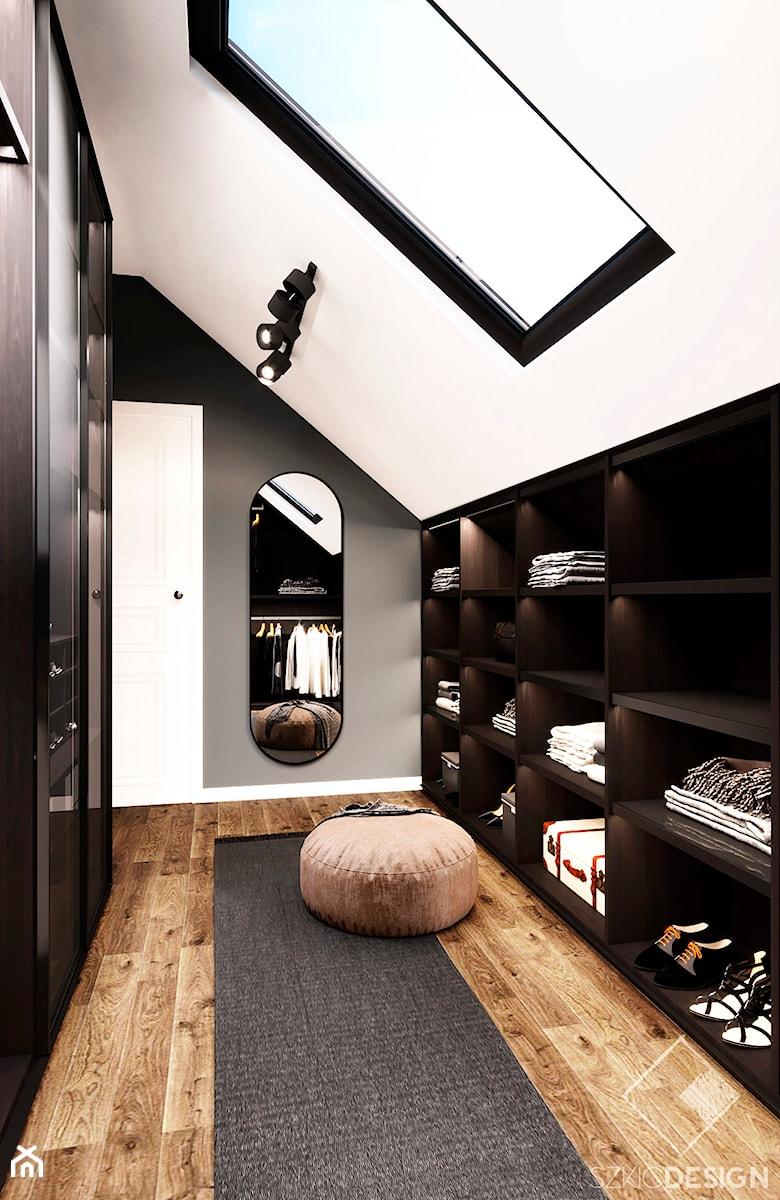 Dom w Płocku - Garderoba, styl nowoczesny - zdjęcie od Szkic Design - Projektowanie wnętrz