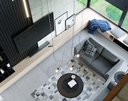 LOFT U - Salon, styl industrialny - zdjęcie od Szkic Design - Projektowanie wnętrz - Homebook