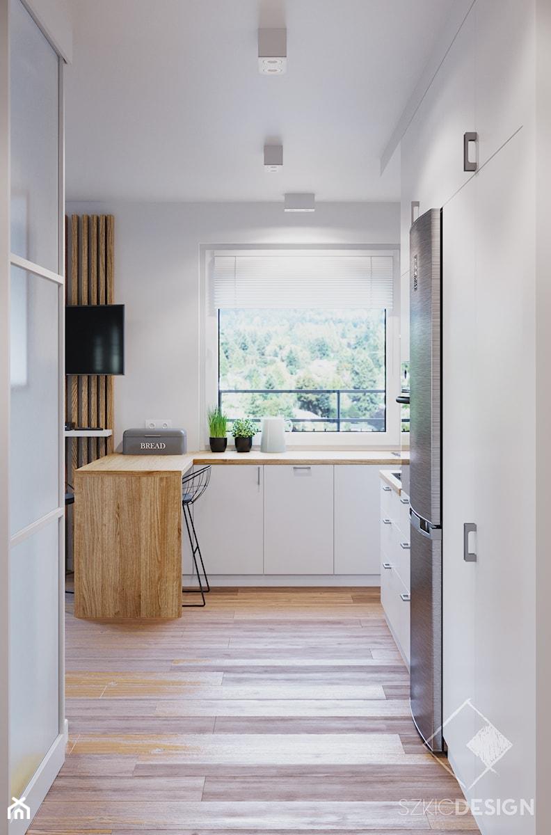 Mieszkanie pod wynajem - Kuchnia, styl minimalistyczny - zdjęcie od Szkic Design - Projektowanie wnętrz