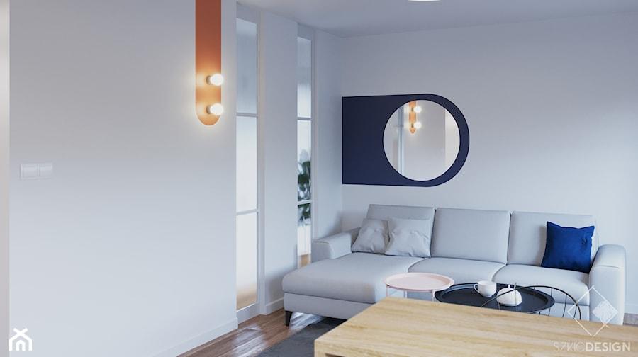 Mieszkanie pod wynajem - Salon, styl minimalistyczny - zdjęcie od Szkic Design - Projektowanie wnętrz