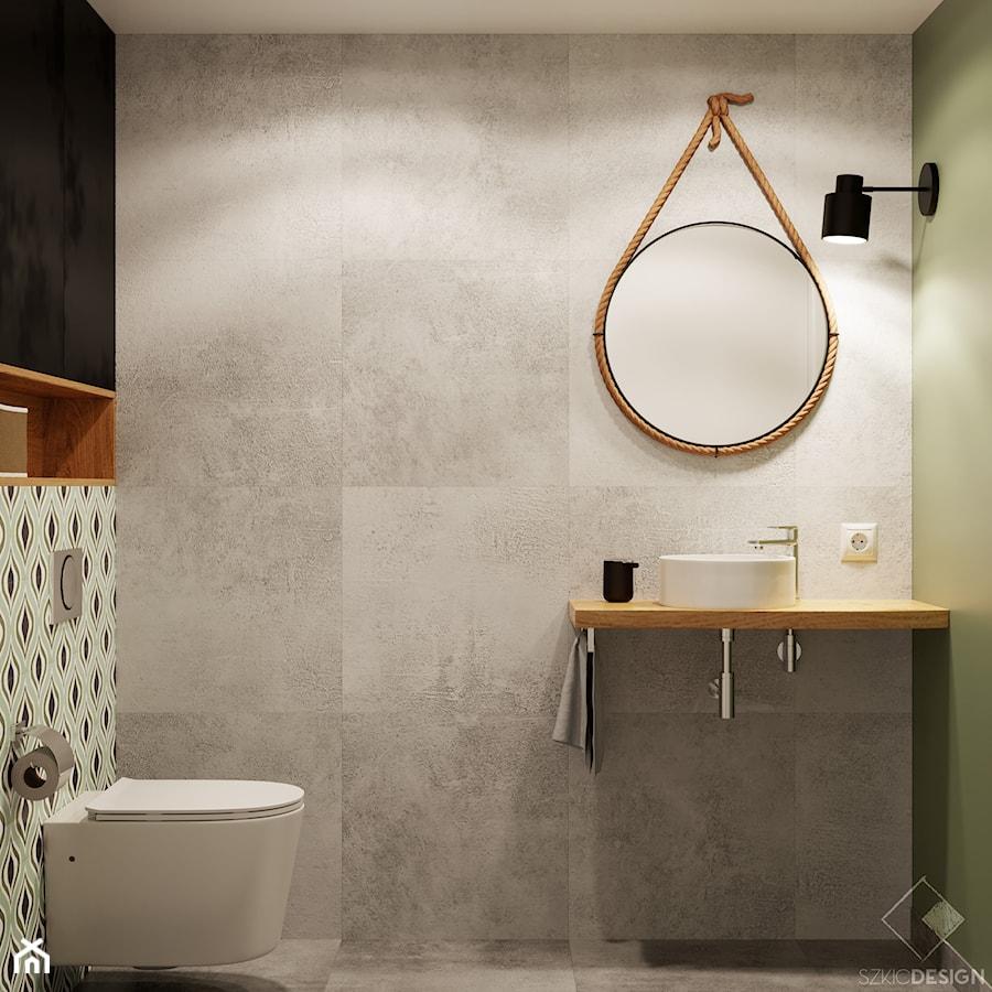 Piętrowe mieszkanie w Mysłowicach - Łazienka, styl industrialny - zdjęcie od Szkic Design - Projektowanie wnętrz