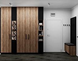 Mieszkanie w Piasecznie - Hol / przedpokój, styl nowoczesny - zdjęcie od Szkic Design - Projektowanie wnętrz - Homebook