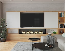 Rezydencja w Bielanach - Salon, styl skandynawski - zdjęcie od Szkic Design - Projektowanie wnętrz - Homebook