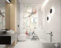 12 PIĘTER - Średnia szara łazienka w bloku w domu jednorodzinnym bez okna, styl nowoczesny - zdjęcie od Szkic Design - Projektowanie wnętrz