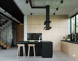 LOFT U - Kuchnia, styl industrialny - zdjęcie od Szkic Design - Projektowanie wnętrz - Homebook