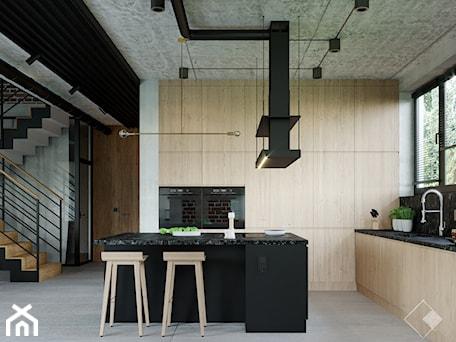 Aranżacje wnętrz - Kuchnia: LOFT U - Kuchnia, styl industrialny - Szkic Design - Projektowanie wnętrz . Przeglądaj, dodawaj i zapisuj najlepsze zdjęcia, pomysły i inspiracje designerskie. W bazie mamy już prawie milion fotografii!