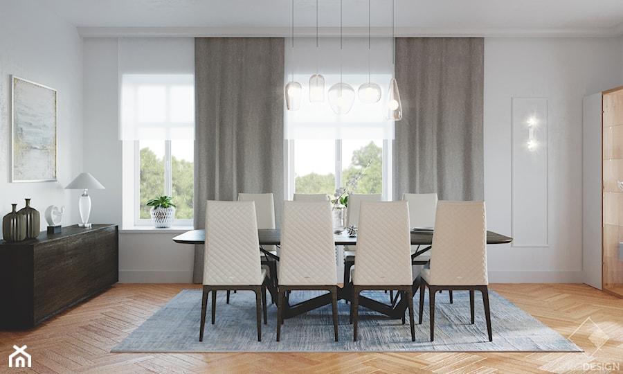 Rezydencja w Bielanach - Jadalnia, styl nowoczesny - zdjęcie od Szkic Design - Projektowanie wnętrz