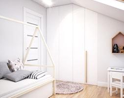 Duży dom w Warszawie - Średni szary pokój dziecka dla chłopca dla dziewczynki dla ucznia dla malucha dla nastolatka, styl skandynawski - zdjęcie od Szkic Design - Projektowanie wnętrz