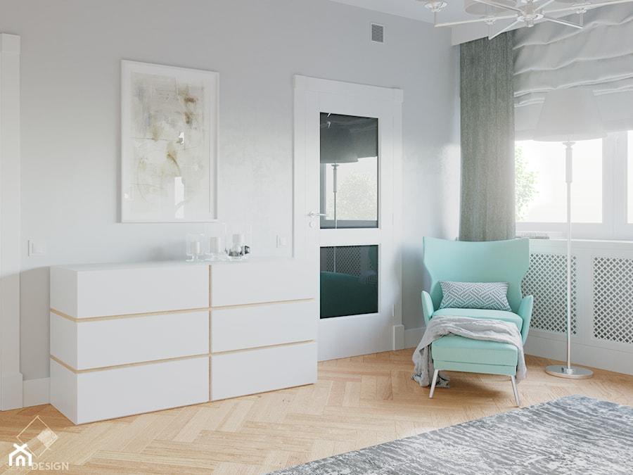 Rezydencja w Bielanach - Sypialnia, styl nowoczesny - zdjęcie od Szkic Design - Projektowanie wnętrz