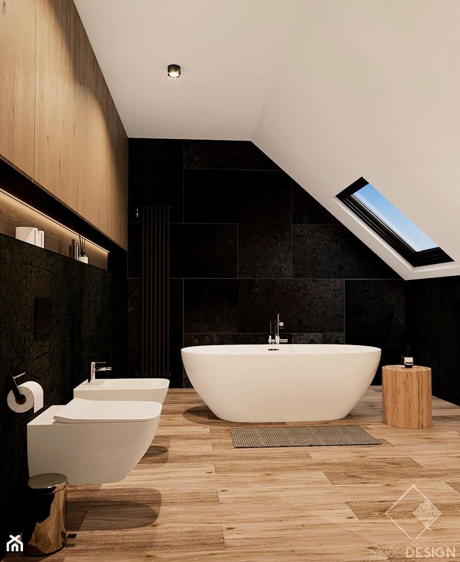 Dom w Płocku - Łazienka, styl nowoczesny - zdjęcie od Szkic Design - Projektowanie wnętrz