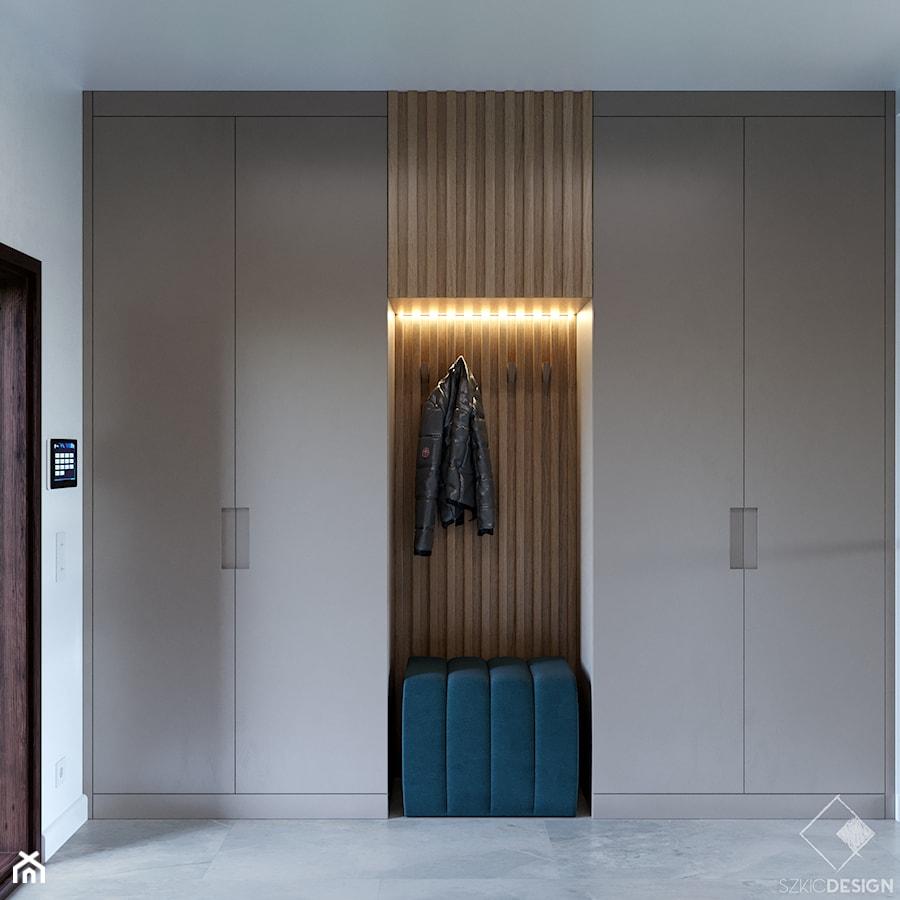 Dom w Grabinie - Hol / przedpokój, styl minimalistyczny - zdjęcie od Szkic Design - Projektowanie wnętrz