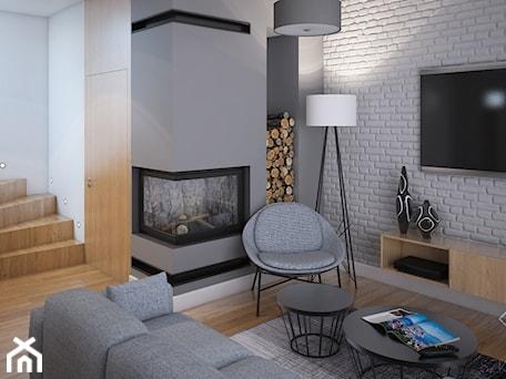 Aranżacje wnętrz - Salon: Duży dom w Warszawie - Mały szary biały salon, styl skandynawski - Szkic Design - Projektowanie wnętrz . Przeglądaj, dodawaj i zapisuj najlepsze zdjęcia, pomysły i inspiracje designerskie. W bazie mamy już prawie milion fotografii!