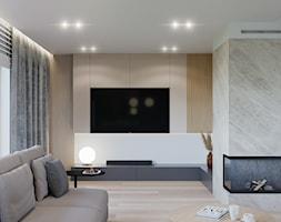 Dom w Grabinie - Salon, styl minimalistyczny - zdjęcie od Szkic Design - Projektowanie wnętrz - Homebook