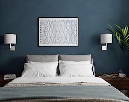 Sypialnia Niebieska Sciana