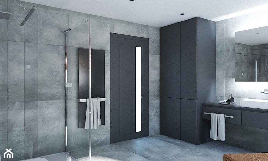 Dom w stylu nowoczesnym - Duża łazienka, styl nowoczesny - zdjęcie od Beata Szczudrawa projektowanie wnętrz