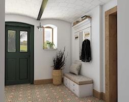Rustykalny dom - Średni biały hol / przedpokój, styl rustykalny - zdjęcie od Beata Szczudrawa projektowanie wnętrz