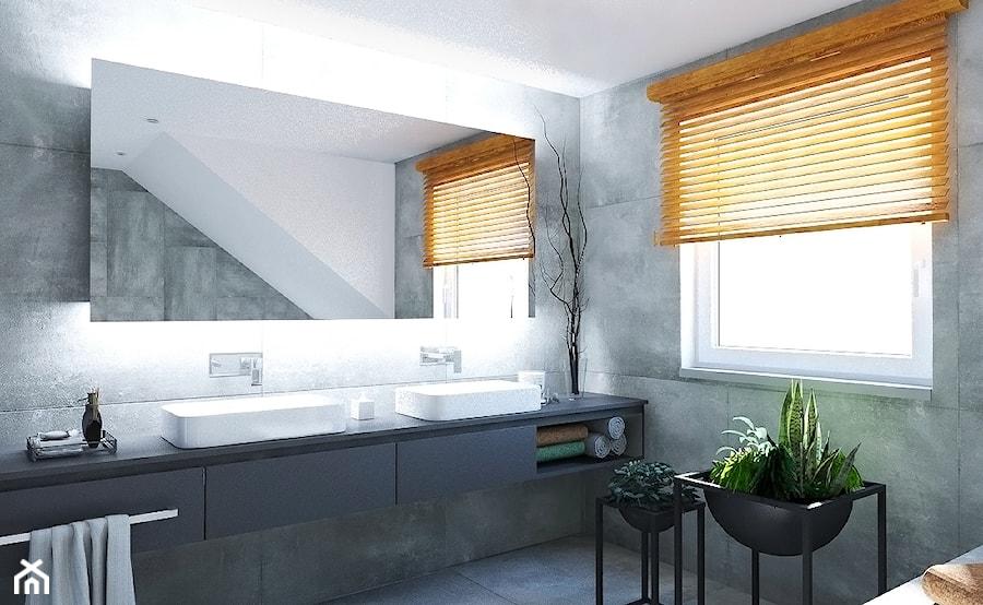 Aranżacje wnętrz - Łazienka: Dom w stylu nowoczesnym - Średnia biała łazienka na poddaszu z oknem, styl nowoczesny - Beata Szczudrawa projektowanie wnętrz. Przeglądaj, dodawaj i zapisuj najlepsze zdjęcia, pomysły i inspiracje designerskie. W bazie mamy już prawie milion fotografii!