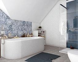 Dom z prowansalskim akcentem - Średnia łazienka na poddaszu w domu jednorodzinnym bez okna, styl prowansalski - zdjęcie od Beata Szczudrawa projektowanie wnętrz