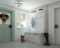 Rustykalny dom pod Zittau - Średni biały hol / przedpokój, styl rustykalny - zdjęcie od Beata Szczudrawa projektowanie wnętrz