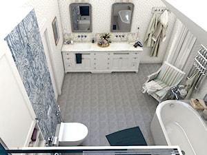 Dom z prowansalskim akcentem - Duża łazienka w bloku w domu jednorodzinnym z oknem, styl prowansalski - zdjęcie od Beata Szczudrawa projektowanie wnętrz