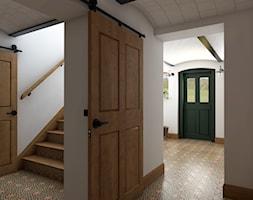 Rustykalny dom - Mały biały hol / przedpokój, styl rustykalny - zdjęcie od Beata Szczudrawa projektowanie wnętrz