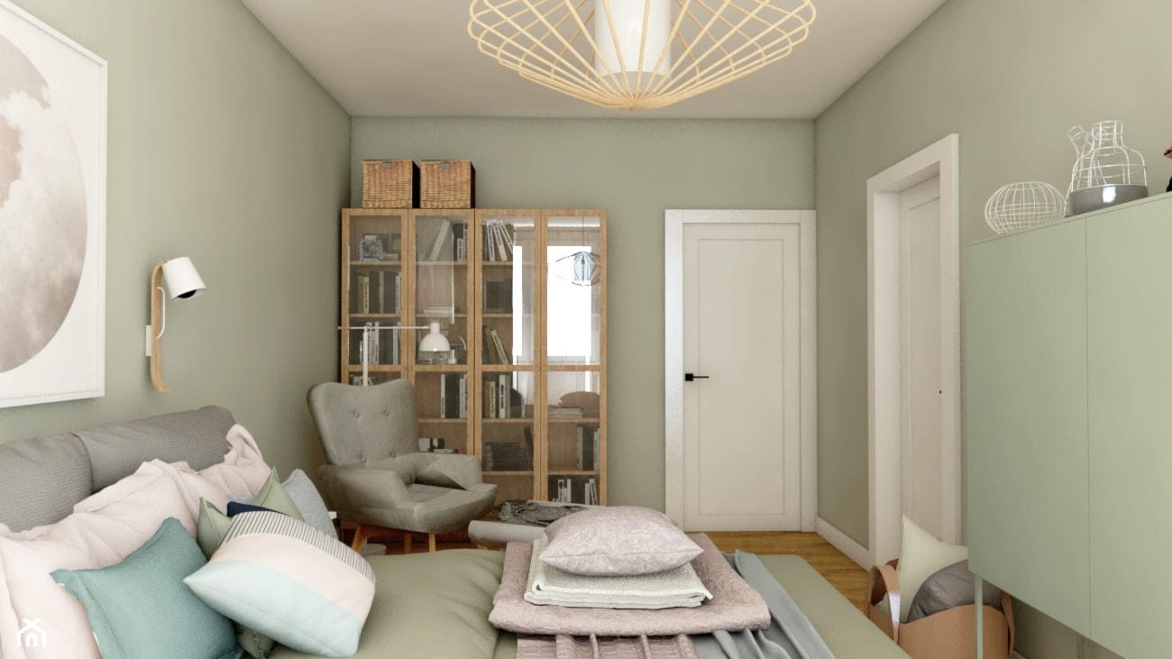 Mieszkanie w bloku - Średnia szara sypialnia małżeńska, styl eklektyczny - zdjęcie od Beata Szczudrawa projektowanie wnętrz - Homebook