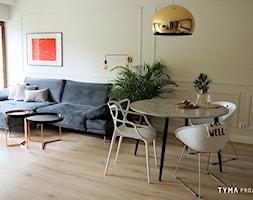 Dolce Vita - Mała otwarta beżowa jadalnia w salonie, styl włoski - zdjęcie od TYMA projekt