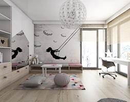Pokoje dziecięce - Duży biały szary pokój dziecka dla dziewczynki dla ucznia dla malucha, styl nowoczesny - zdjęcie od BAGUA Pracownia Architektury Wnętrz