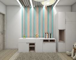 Pokoje dziecięce - Średni biały szary kolorowy pokój dziecka dla chłopca dla dziewczynki dla niemowlaka, styl skandynawski - zdjęcie od BAGUA Pracownia Architektury Wnętrz