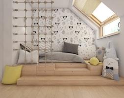 (Siemianowice Śląskie) Dom jednorodzinny 17 - Mały biały szary pokój dziecka dla chłopca dla dziewcz ... - zdjęcie od BAGUA Pracownia Architektury Wnętrz - Homebook