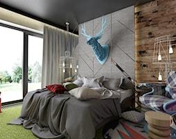 D25 - Rzeszów - Dom rekreacyjny całoroczny - Sypialnia, styl eklektyczny - zdjęcie od BAGUA Pracownia Architektury Wnętrz - Homebook