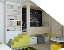 Pokoje dziecięce - Średni biały szary pokój dziecka dla chłopca dla malucha, styl skandynawski - zdjęcie od BAGUA Pracownia Architektury Wnętrz