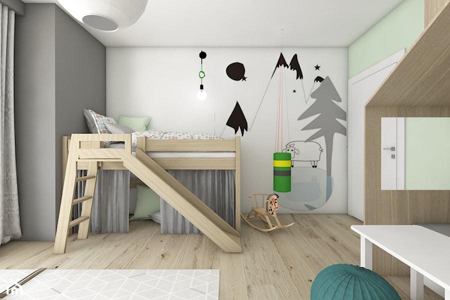 Pokoje dziecięce - Średni biały szary pokój dziecka dla chłopca dla malucha, styl nowoczesny - zdjęcie od BAGUA Pracownia Architektury Wnętrz