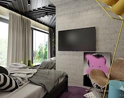 D25 - Rzeszów - Dom rekreacyjny całoroczny - Sypialnia, styl nowoczesny - zdjęcie od BAGUA Pracownia Architektury Wnętrz - Homebook