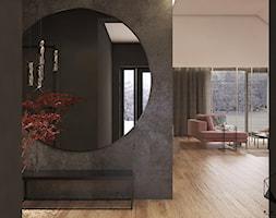 f31f3796515e7e Projekt domu jednorodzinnego D18 - Gliwice - Średni brązowy hol / przedpokój,  styl nowoczesny -