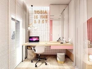 Rzeszów - D23 - Projekt domu jednorodzinnego 600 m2 - Mały beżowy pokój dziecka dla dziewczynki dla ucznia dla nastolatka, styl nowoczesny - zdjęcie od BAGUA Pracownia Architektury Wnętrz