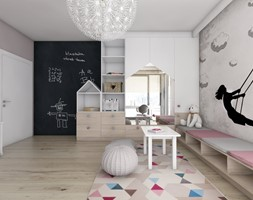 Pokoje dziecięce - Duży pokój dziecka dla dziewczynki dla malucha, styl nowoczesny - zdjęcie od BAGUA Pracownia Architektury Wnętrz