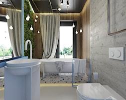 D25 - Rzeszów - Dom rekreacyjny całoroczny - Łazienka, styl eklektyczny - zdjęcie od BAGUA Pracownia Architektury Wnętrz - Homebook
