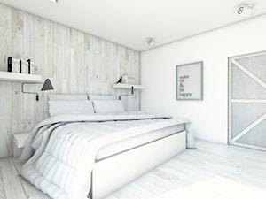Mieszkanie w Krakowie 114m2 - Duża biała sypialnia małżeńska, styl skandynawski - zdjęcie od BAGUA Pracownia Architektury Wnętrz