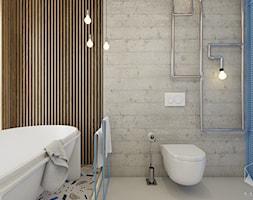 D25 - Rzeszów - Dom rekreacyjny całoroczny - Łazienka, styl nowoczesny - zdjęcie od BAGUA Pracownia Architektury Wnętrz - Homebook