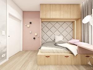 Rzeszów - D23 - Projekt domu jednorodzinnego 600 m2 - Średni szary pokój dziecka dla dziewczynki dla ucznia dla nastolatka, styl nowoczesny - zdjęcie od BAGUA Pracownia Architektury Wnętrz