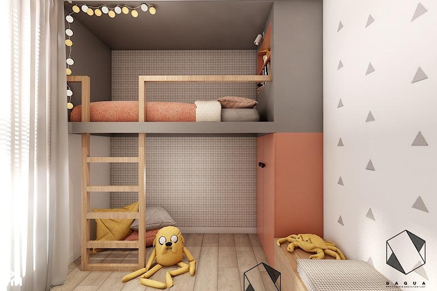 Mieszkanie 10 - Kraków - Mały szary pokój dziecka dla chłopca dla dziewczynki dla nastolatka, styl nowoczesny - zdjęcie od BAGUA Pracownia Architektury Wnętrz
