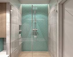 (Łódź) Projekt mieszkania 4 - Średnia łazienka bez okna, styl nowoczesny - zdjęcie od BAGUA Pracownia Architektury Wnętrz