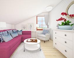 Pokój gościnny ze skosem - zdjęcie od Wzornik projektowy - projektowanie wnętrz