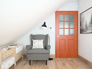 Biuro na poddaszu - zdjęcie od Wzornik projektowy - projektowanie wnętrz