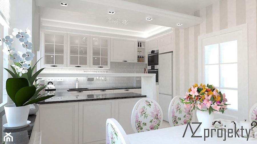 Kuchnia W Stylu Angielskim średnia Otwarta Biała Kuchnia W