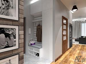 Apartament Mokotów - Mały biały hol / przedpokój, styl nowoczesny - zdjęcie od AZ projekty